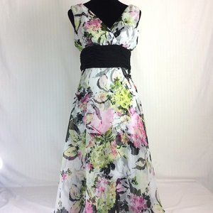 Connected Apparel Dress Floral Sz 8